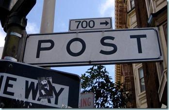 700 post sign
